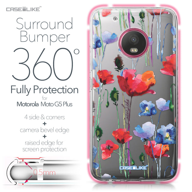 Motorola Moto G5 Plus case Watercolor Floral 2234 Bumper Case Protection | CASEiLIKE.com