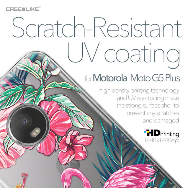 Motorola Moto G5 Plus case Tropical Flamingo 2239 with UV-Coating Scratch-Resistant Case | CASEiLIKE.com