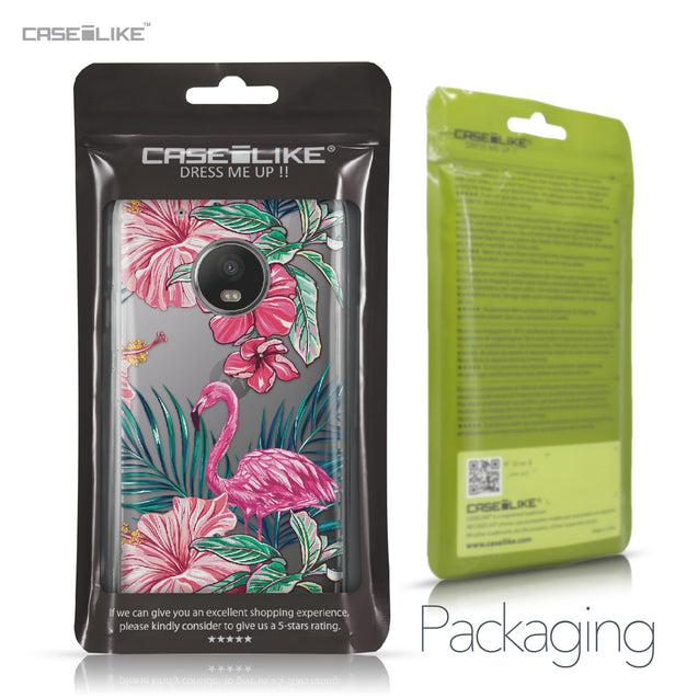 Motorola Moto G5 Plus case Tropical Flamingo 2239 Retail Packaging | CASEiLIKE.com