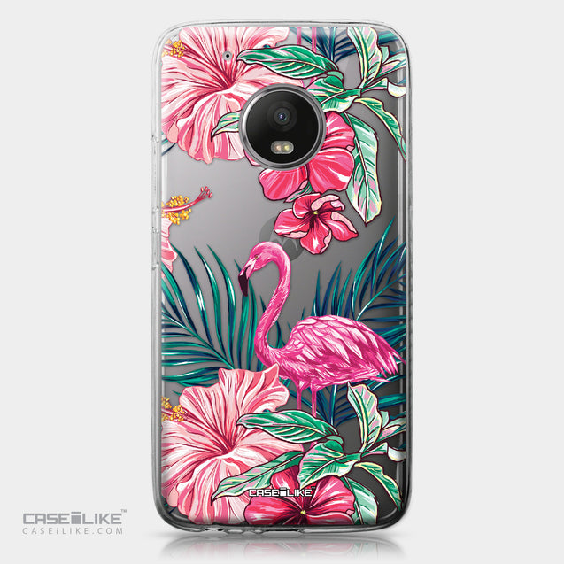 Motorola Moto G5 Plus case Tropical Flamingo 2239 | CASEiLIKE.com