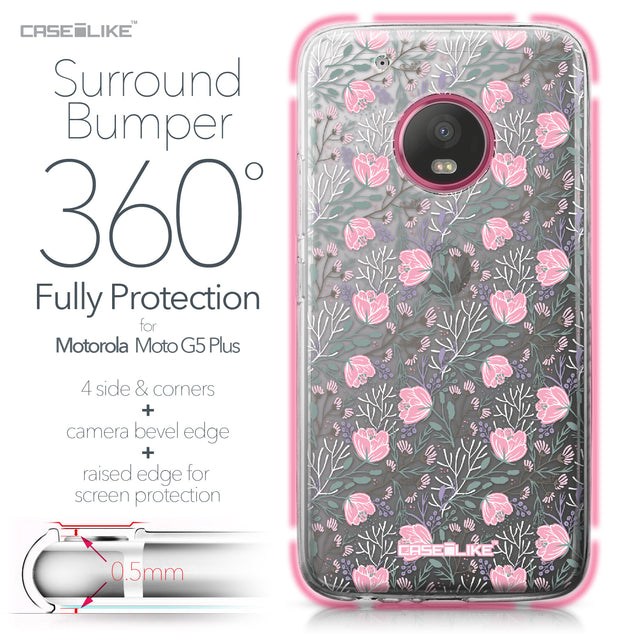 Motorola Moto G5 Plus case Flowers Herbs 2246 Bumper Case Protection | CASEiLIKE.com