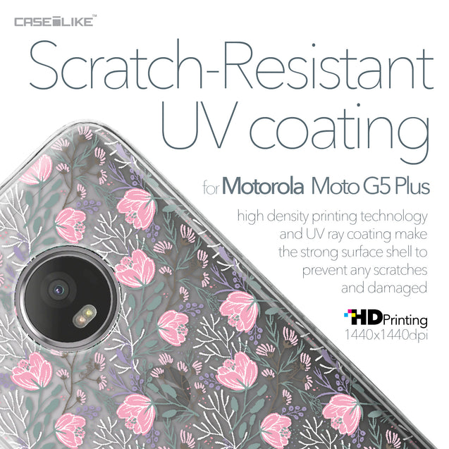 Motorola Moto G5 Plus case Flowers Herbs 2246 with UV-Coating Scratch-Resistant Case | CASEiLIKE.com