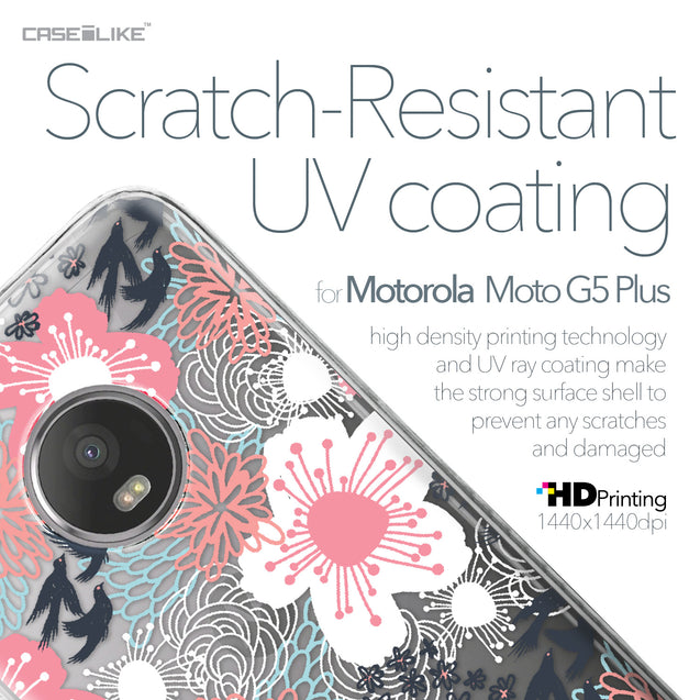 Motorola Moto G5 Plus case Japanese Floral 2255 with UV-Coating Scratch-Resistant Case | CASEiLIKE.com
