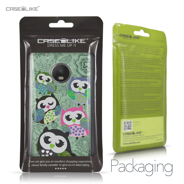 Motorola Moto G5 Plus case Owl Graphic Design 3313 Retail Packaging | CASEiLIKE.com