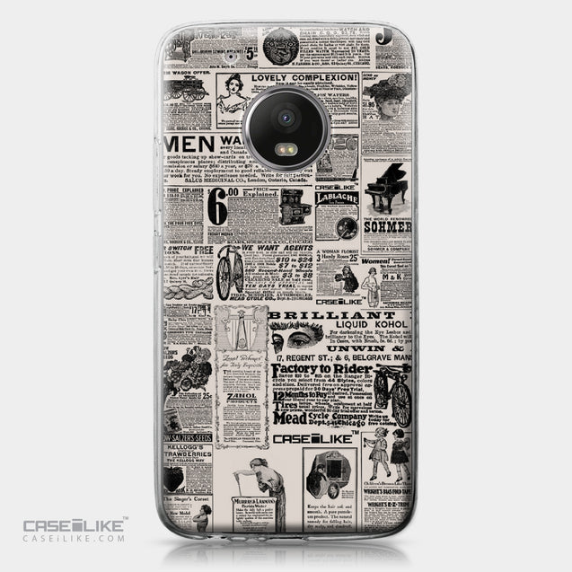 Motorola Moto G5 Plus case Vintage Newspaper Advertising 4818 | CASEiLIKE.com