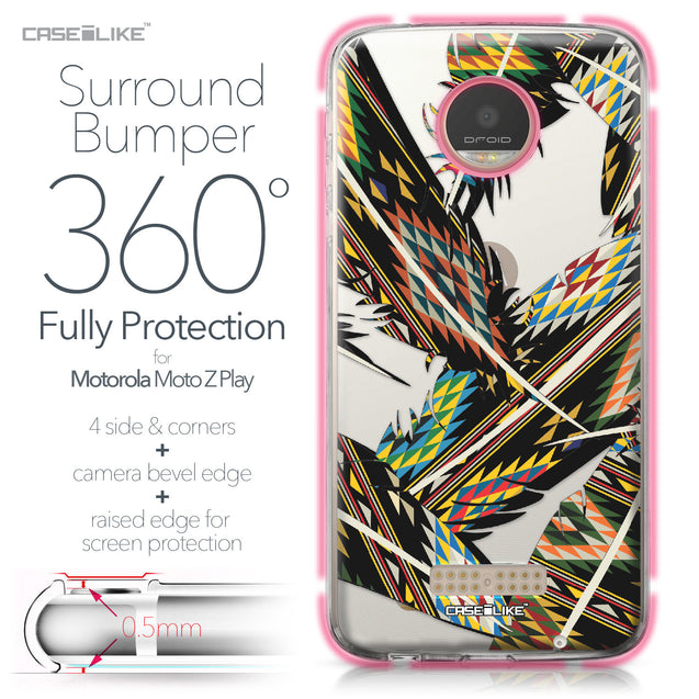 Motorola Moto Z Play case Indian Tribal Theme Pattern 2053 Bumper Case Protection | CASEiLIKE.com