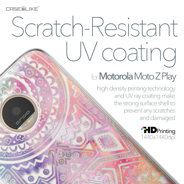 Motorola Moto Z Play case Indian Line Art 2065 with UV-Coating Scratch-Resistant Case | CASEiLIKE.com