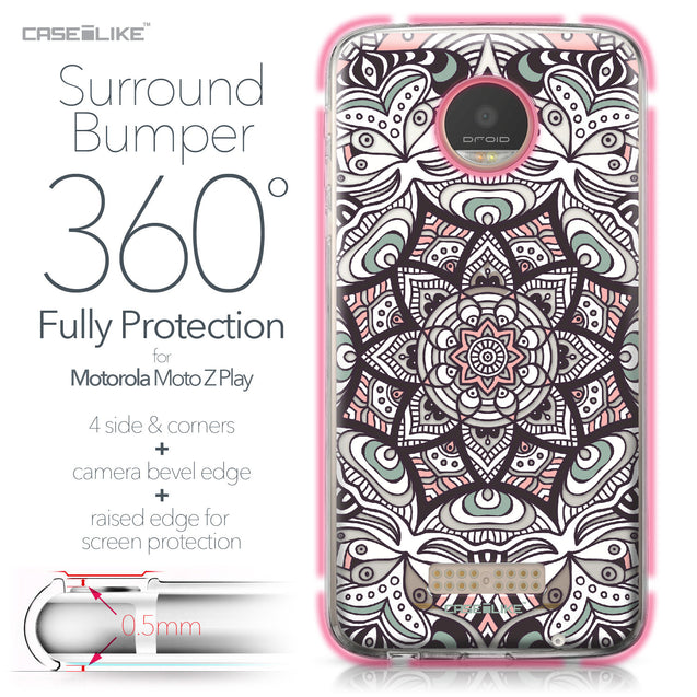 Motorola Moto Z Play case Mandala Art 2095 Bumper Case Protection | CASEiLIKE.com
