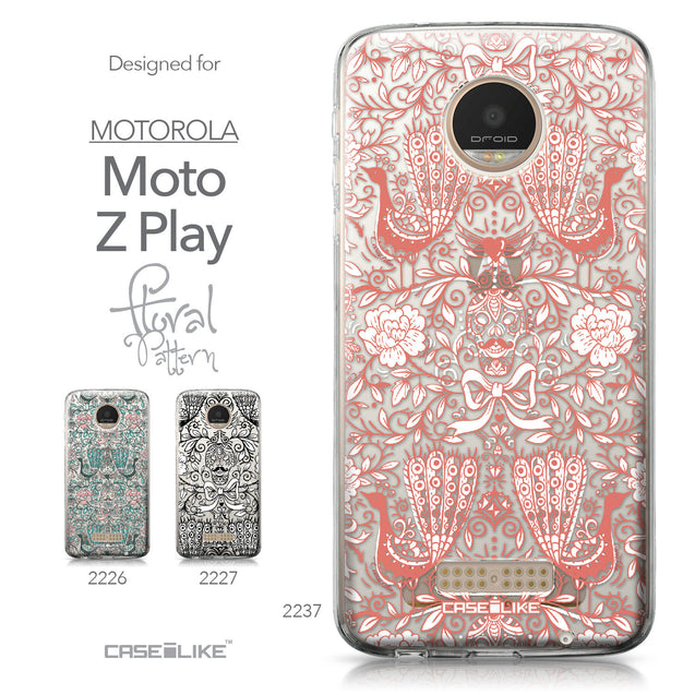 Motorola Moto Z Play case Roses Ornamental Skulls Peacocks 2237 Collection | CASEiLIKE.com