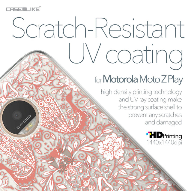 Motorola Moto Z Play case Roses Ornamental Skulls Peacocks 2237 with UV-Coating Scratch-Resistant Case | CASEiLIKE.com