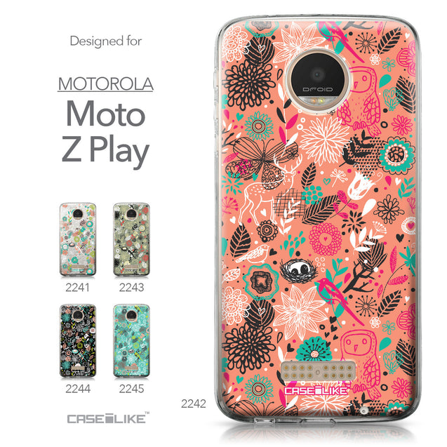 Motorola Moto Z Play case Spring Forest Pink 2242 Collection | CASEiLIKE.com
