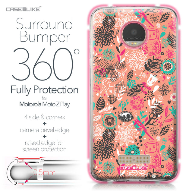 Motorola Moto Z Play case Spring Forest Pink 2242 Bumper Case Protection | CASEiLIKE.com