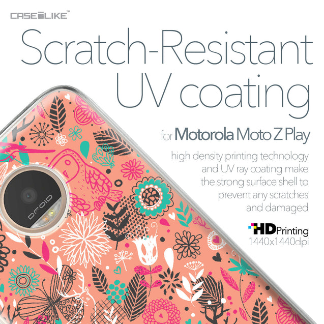 Motorola Moto Z Play case Spring Forest Pink 2242 with UV-Coating Scratch-Resistant Case | CASEiLIKE.com