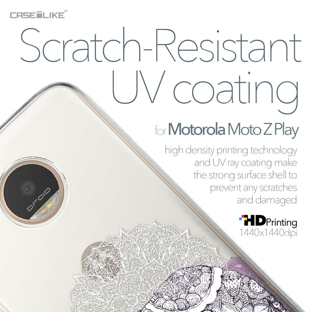 Motorola Moto Z Play case Mandala Art 2301 with UV-Coating Scratch-Resistant Case | CASEiLIKE.com
