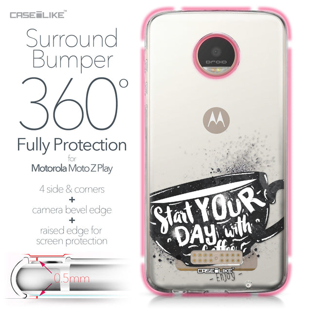 Motorola Moto Z Play case Quote 2402 Bumper Case Protection | CASEiLIKE.com