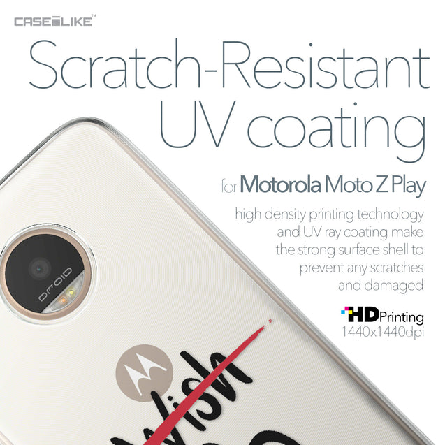 Motorola Moto Z Play case Quote 2407 with UV-Coating Scratch-Resistant Case | CASEiLIKE.com