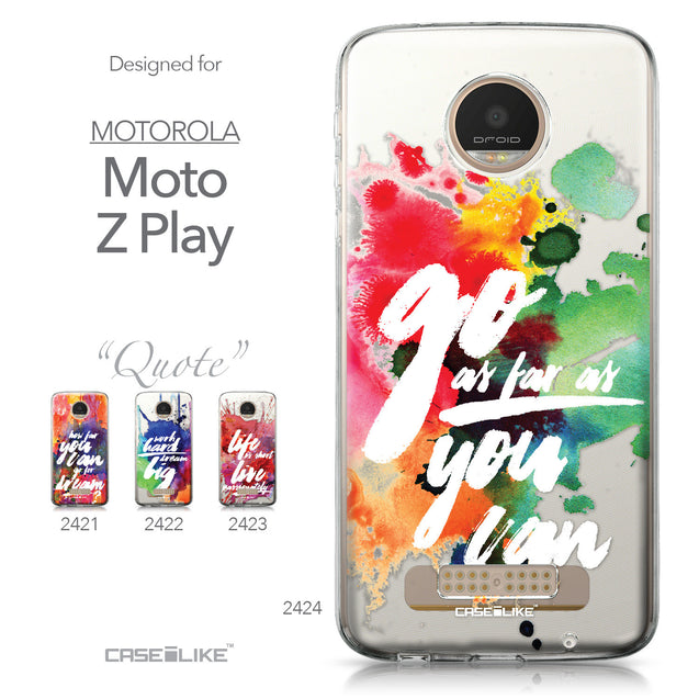 Motorola Moto Z Play case Quote 2424 Collection | CASEiLIKE.com