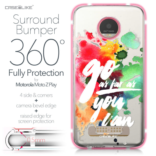 Motorola Moto Z Play case Quote 2424 Bumper Case Protection | CASEiLIKE.com
