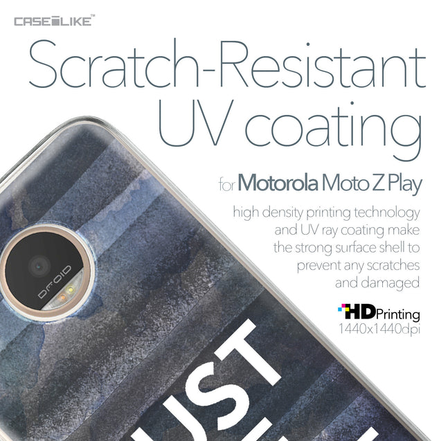 Motorola Moto Z Play case Quote 2430 with UV-Coating Scratch-Resistant Case | CASEiLIKE.com