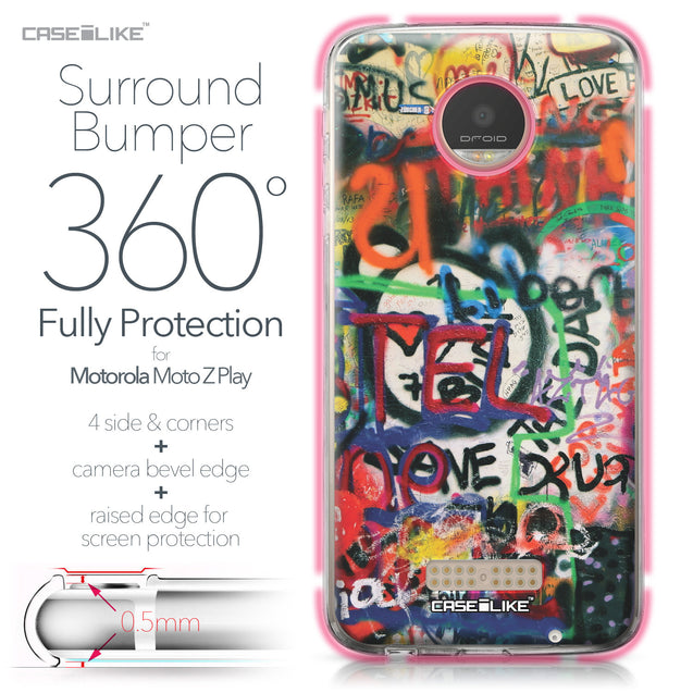 Motorola Moto Z Play case Graffiti 2721 Bumper Case Protection | CASEiLIKE.com