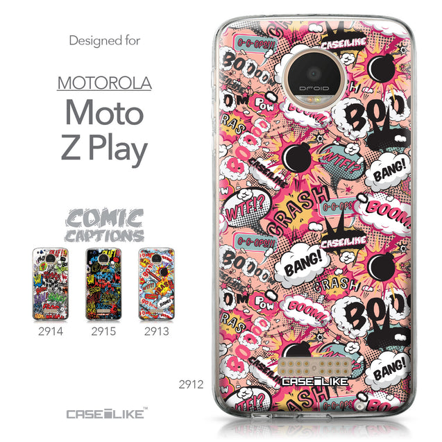 Motorola Moto Z Play case Comic Captions Pink 2912 Collection | CASEiLIKE.com