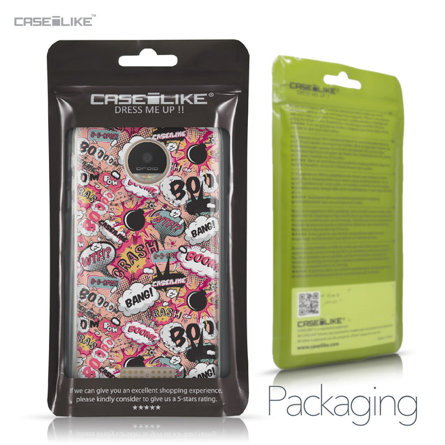 Motorola Moto Z Play case Comic Captions Pink 2912 Retail Packaging | CASEiLIKE.com