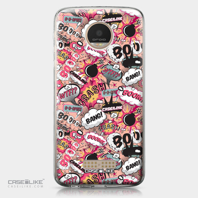 Motorola Moto Z Play case Comic Captions Pink 2912 | CASEiLIKE.com