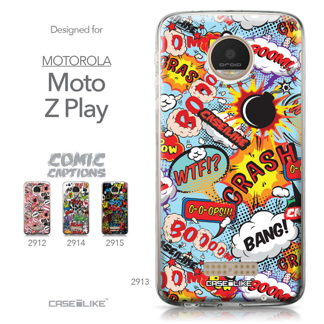 Motorola Moto Z Play case Comic Captions Blue 2913 Collection | CASEiLIKE.com