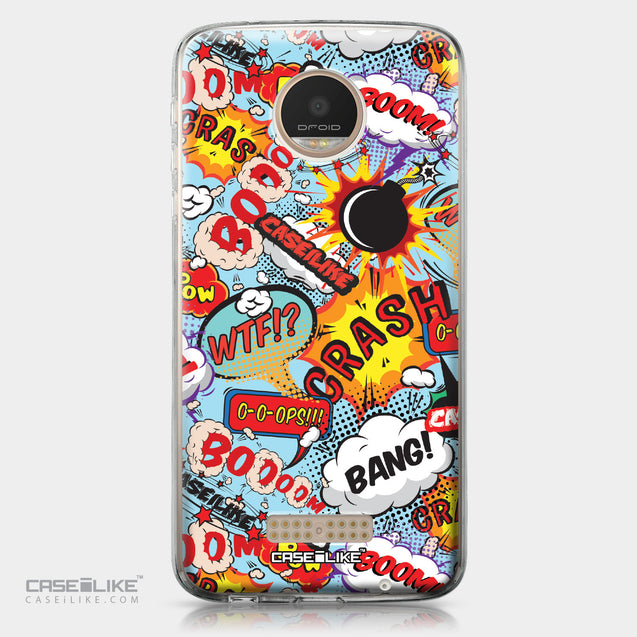 Motorola Moto Z Play case Comic Captions Blue 2913 | CASEiLIKE.com