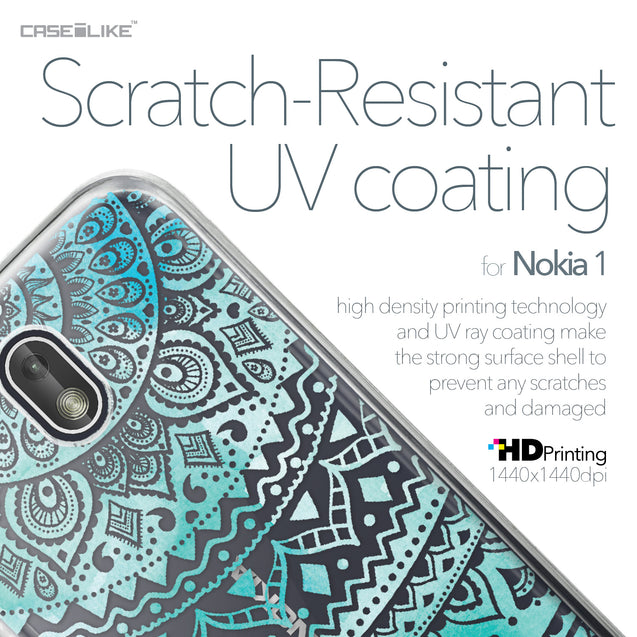 Nokia 1 case Indian Line Art 2066 with UV-Coating Scratch-Resistant Case | CASEiLIKE.com