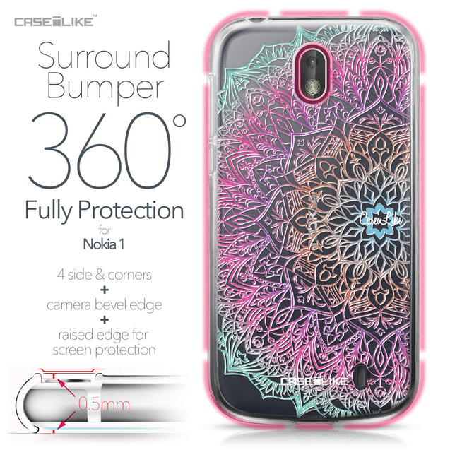 Nokia 1 case Mandala Art 2090 Bumper Case Protection | CASEiLIKE.com
