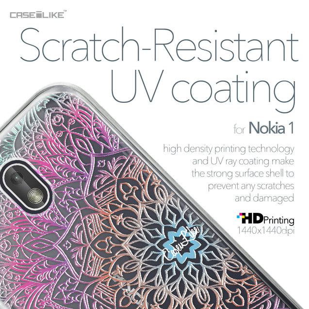 Nokia 1 case Mandala Art 2090 with UV-Coating Scratch-Resistant Case | CASEiLIKE.com