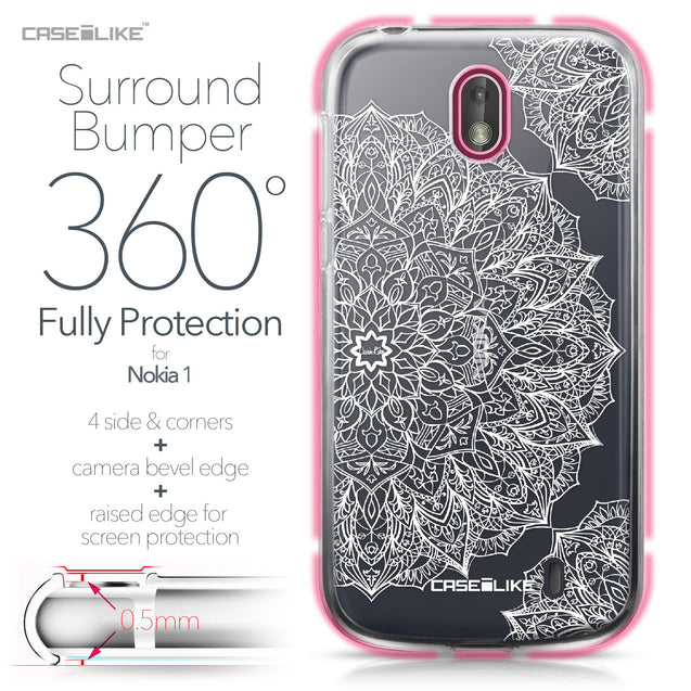Nokia 1 case Mandala Art 2091 Bumper Case Protection | CASEiLIKE.com