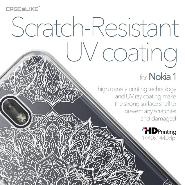 Nokia 1 case Mandala Art 2091 with UV-Coating Scratch-Resistant Case | CASEiLIKE.com