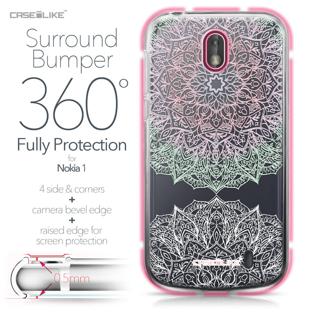 Nokia 1 case Mandala Art 2092 Bumper Case Protection | CASEiLIKE.com