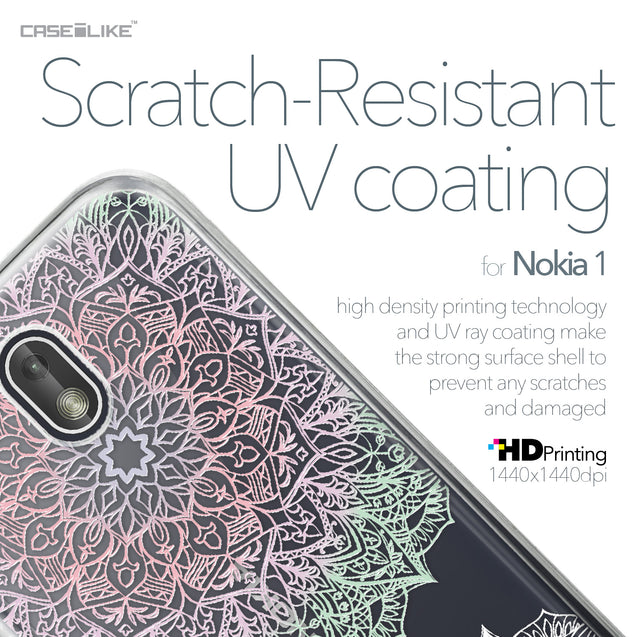 Nokia 1 case Mandala Art 2092 with UV-Coating Scratch-Resistant Case | CASEiLIKE.com