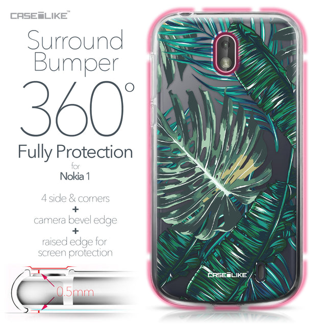 Nokia 1 case Tropical Palm Tree 2238 Bumper Case Protection | CASEiLIKE.com
