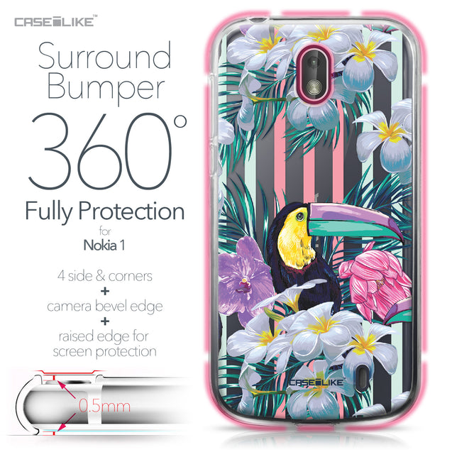 Nokia 1 case Tropical Floral 2240 Bumper Case Protection | CASEiLIKE.com
