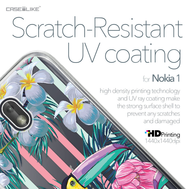 Nokia 1 case Tropical Floral 2240 with UV-Coating Scratch-Resistant Case | CASEiLIKE.com
