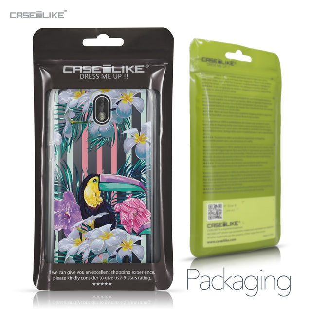 Nokia 1 case Tropical Floral 2240 Retail Packaging | CASEiLIKE.com