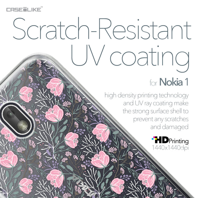 Nokia 1 case Flowers Herbs 2246 with UV-Coating Scratch-Resistant Case | CASEiLIKE.com