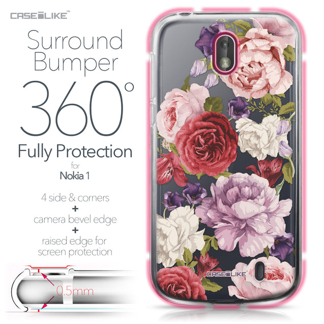 Nokia 1 case Mixed Roses 2259 Bumper Case Protection | CASEiLIKE.com