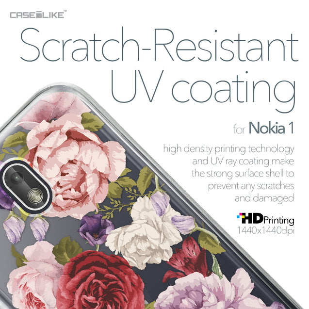 Nokia 1 case Mixed Roses 2259 with UV-Coating Scratch-Resistant Case | CASEiLIKE.com