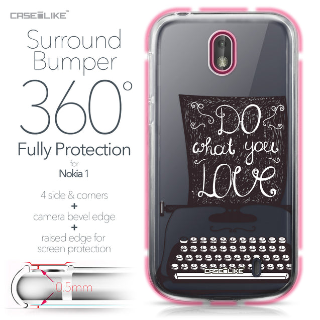 Nokia 1 case Quote 2400 Bumper Case Protection | CASEiLIKE.com