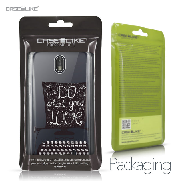 Nokia 1 case Quote 2400 Retail Packaging | CASEiLIKE.com