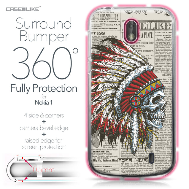 Nokia 1 case Art of Skull 2522 Bumper Case Protection | CASEiLIKE.com
