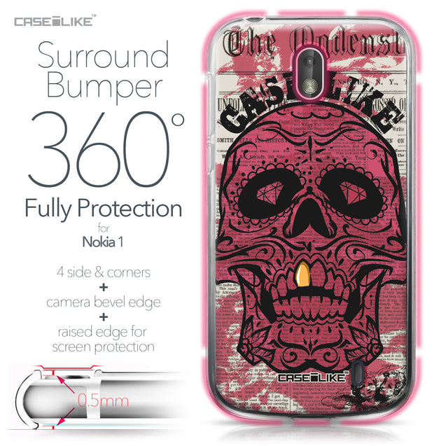 Nokia 1 case Art of Skull 2523 Bumper Case Protection | CASEiLIKE.com
