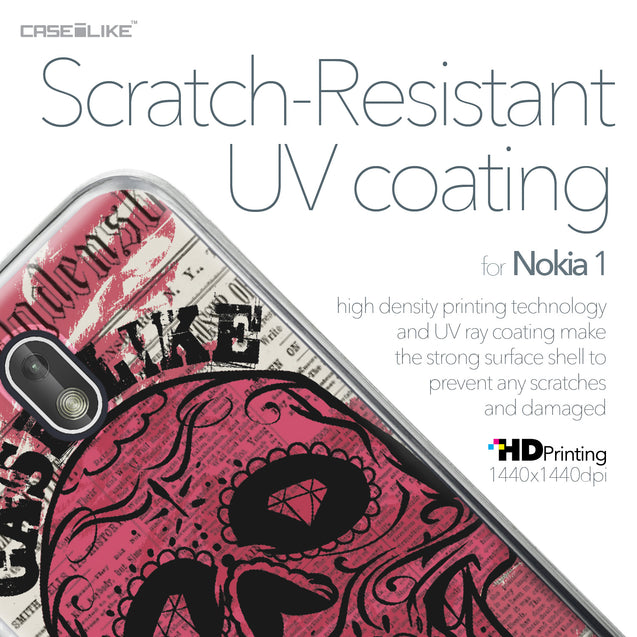 Nokia 1 case Art of Skull 2523 with UV-Coating Scratch-Resistant Case | CASEiLIKE.com