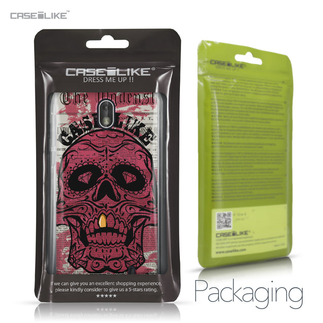 Nokia 1 case Art of Skull 2523 Retail Packaging | CASEiLIKE.com