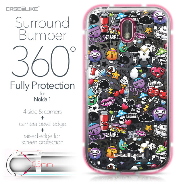 Nokia 1 case Graffiti 2703 Bumper Case Protection | CASEiLIKE.com